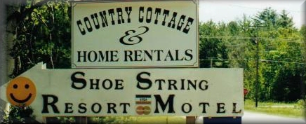 Shoestring Resort offers cottages rentals in Traverse City, Michigan
